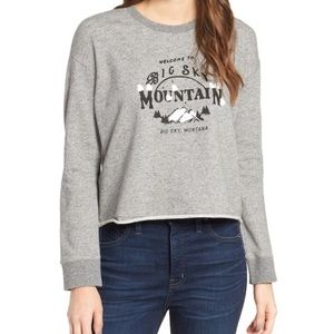 Madewell sky mountain gray crop sweater sm -CG0087